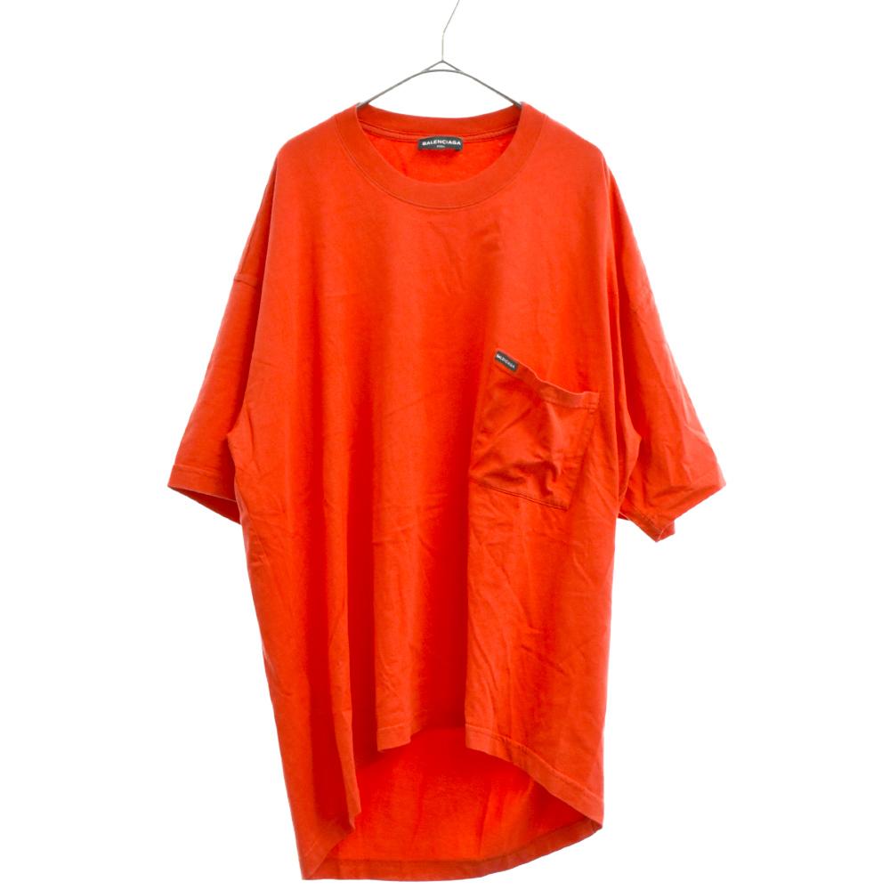 バックヨーロッパロゴオーバーサイズ半袖Tシャツ