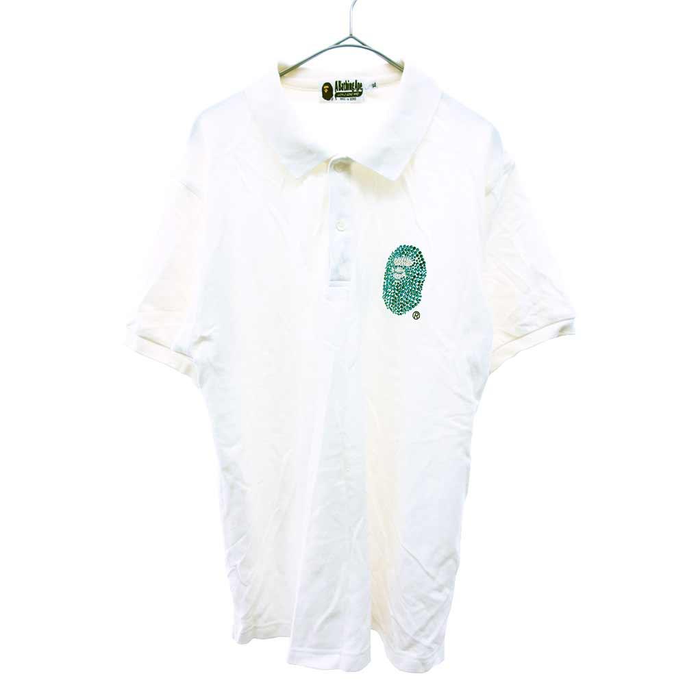 ラインストーンサルデザイン 半袖ポロシャツ