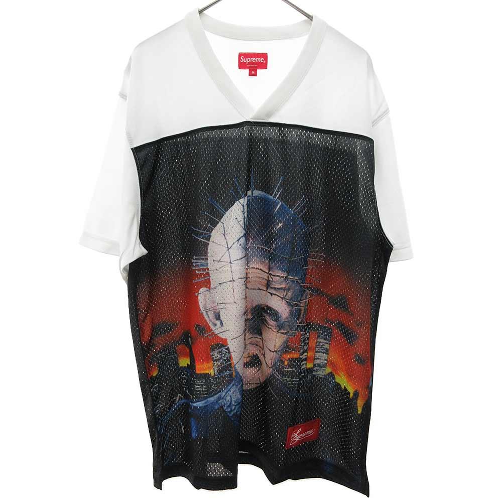 Hellraiser Football Jersey Hell on Earth Tee ヘルレイザーコラボヘルオンアースフットボールジャージ 半袖メッシュTシャツ