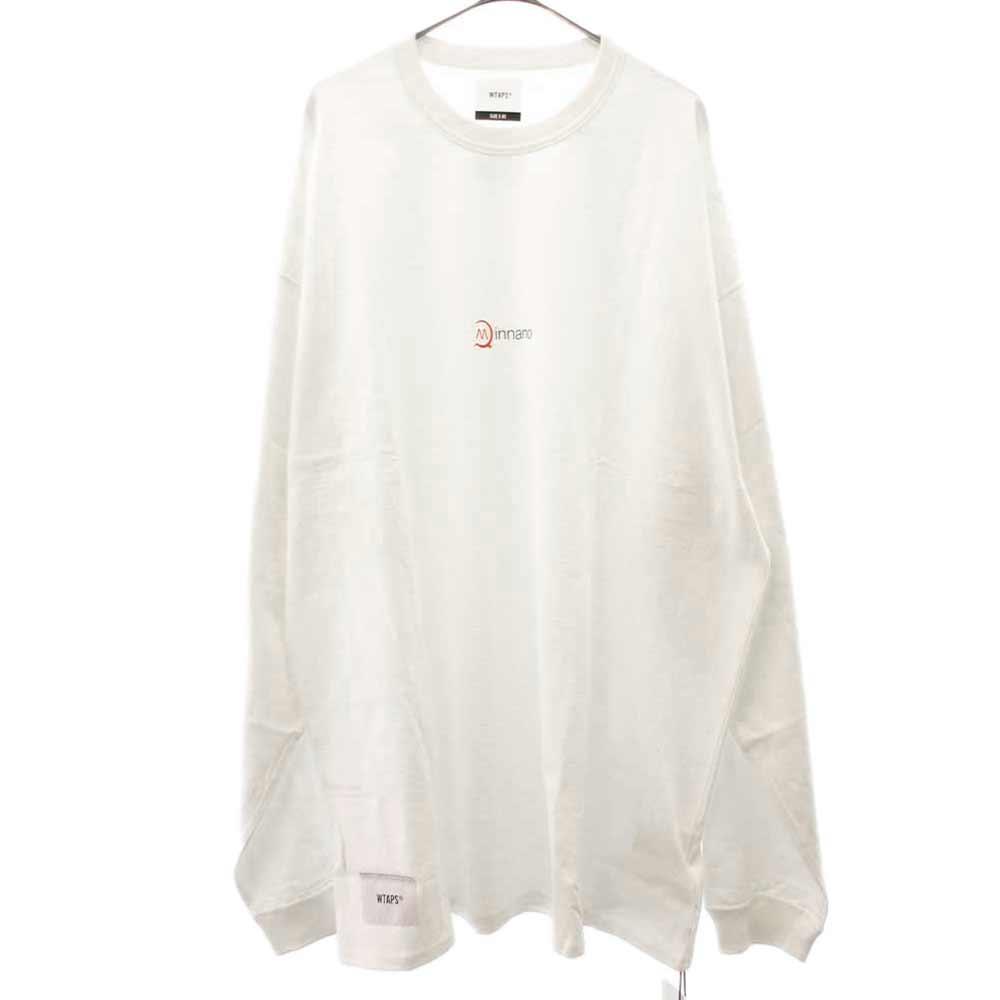 × MIN-NANO  ミンナノ ロゴプリントロングTシャツ