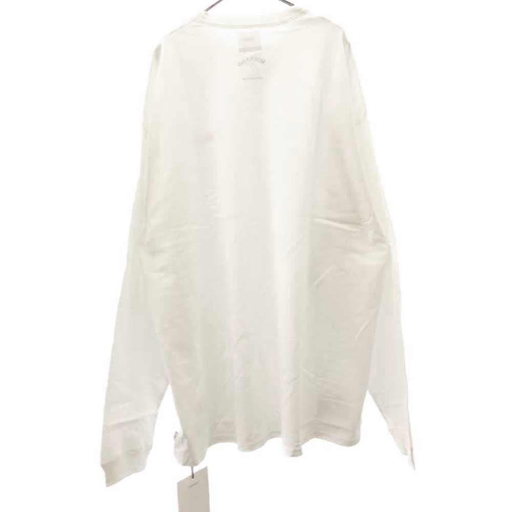 × MIN-NANO  ミンナノ ロゴ刺繍ロングTシャツ