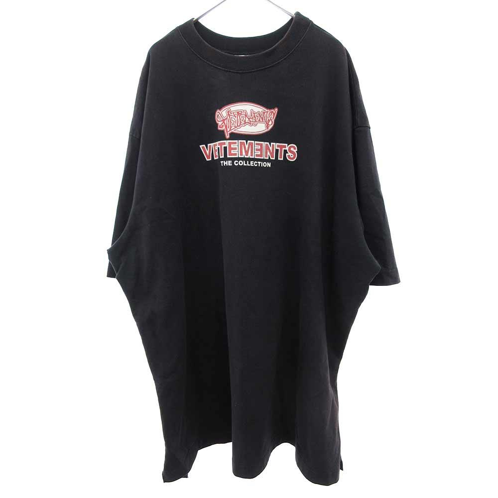 18SSサイドスリットオーバーサイズ 半袖Tシャツ