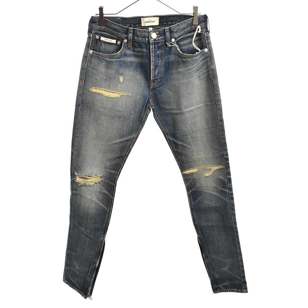 Denim Pants 裾ジップスキニーパンツ