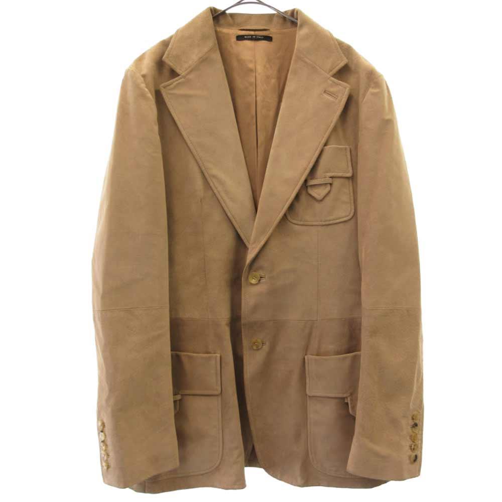 トムフォード期 スエードレザー 2B テーラードジャケット