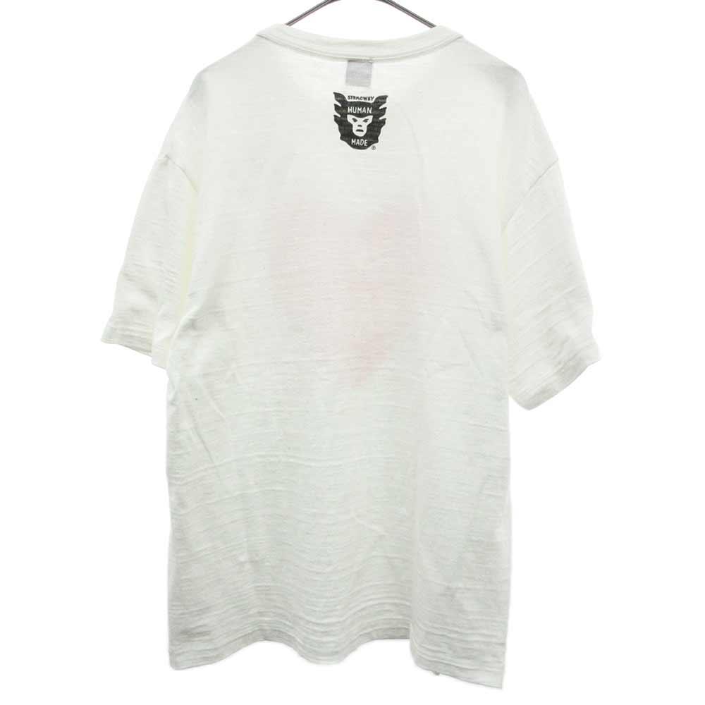フロントハートロゴプリントクルーネック半袖Tシャツ