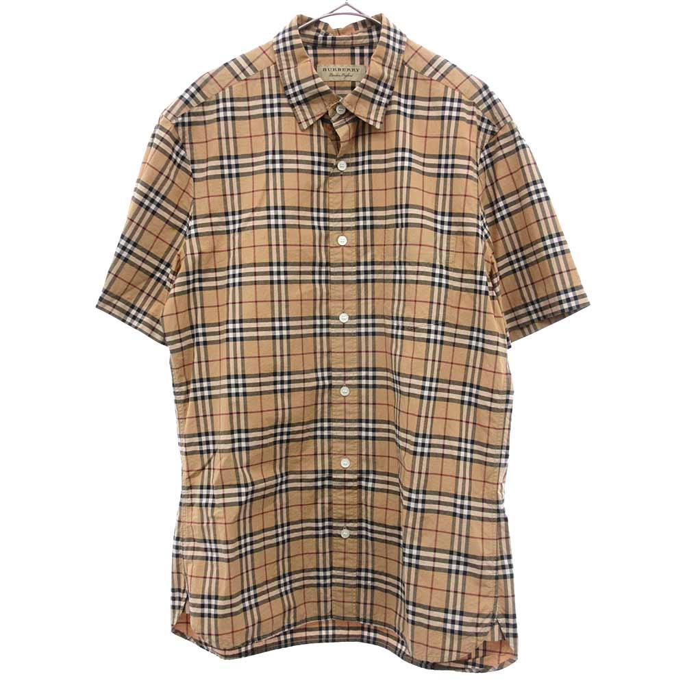 チェック総柄半袖シャツ