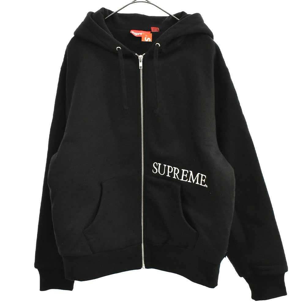 Thermal Zip Up Hooded Sweatshirt ロゴ刺繍サーマルジップアップパーカー