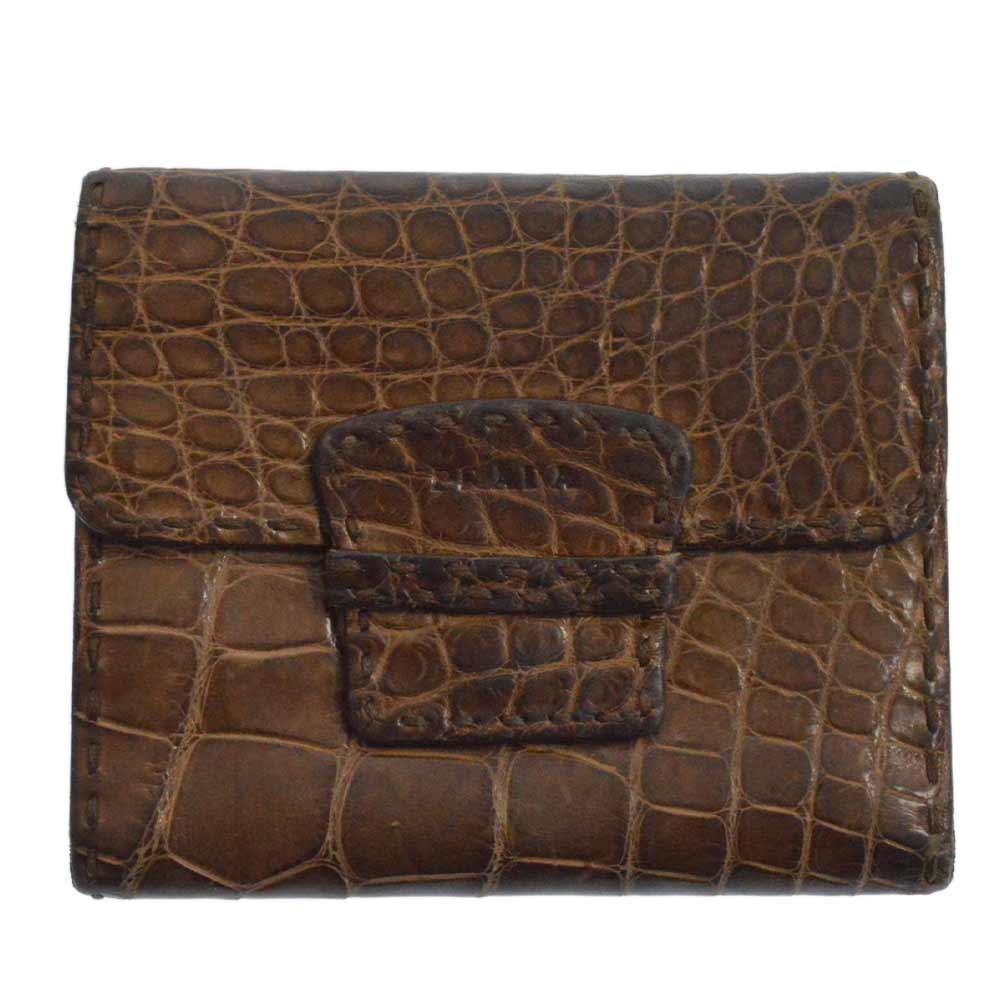 クロコダイル二つ折り財布 ウォレット