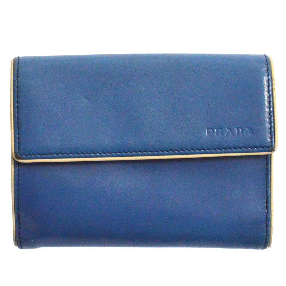 ロゴ刻印レザーWホックウォレット 二つ折り財布