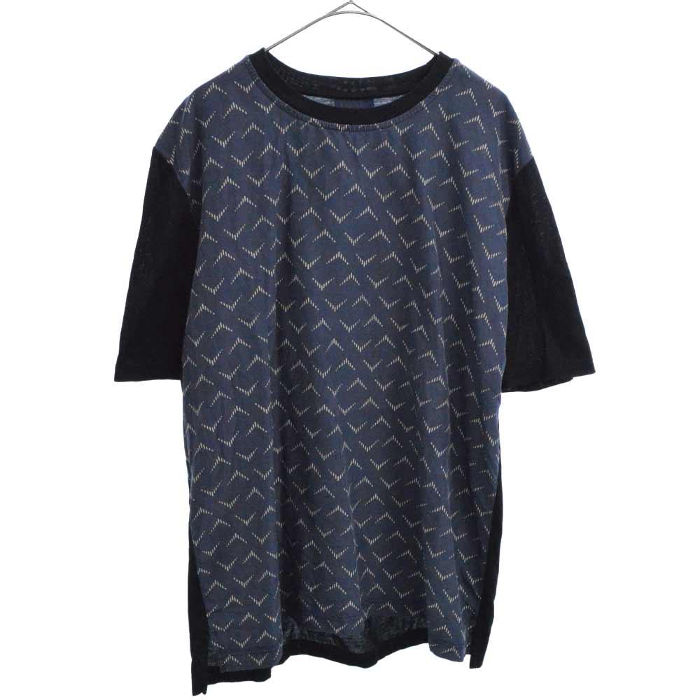 シャツ生地切替半袖Tシャツ