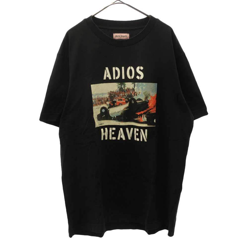 Adios Heaven Tee アディオスヘブンプリント半袖Tシャツ