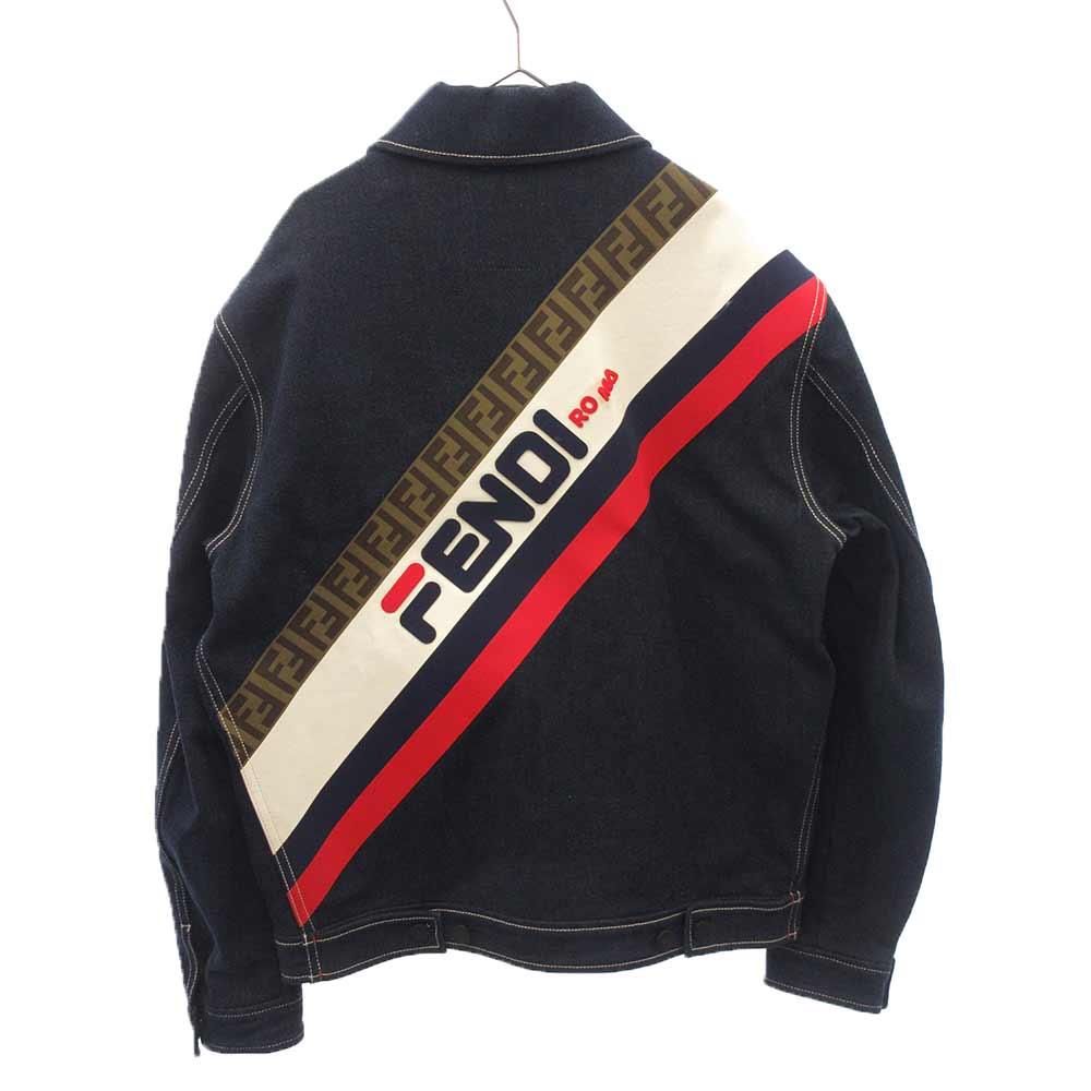 ×FILA  フィラ バックプリントデニムジャケット