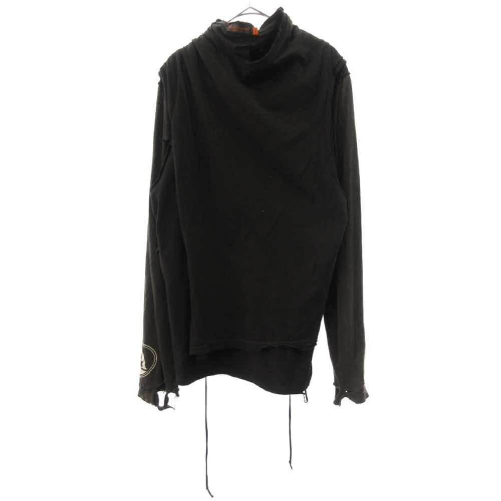 レイヤード再構築長袖カットソーシャツ