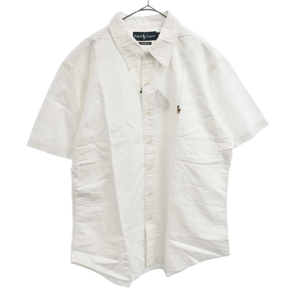 カラーポニー刺繍半袖ボタンダウンシャツ