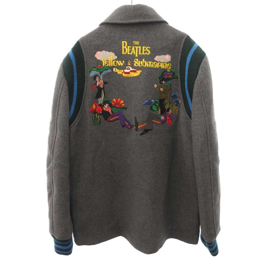 ×THE BEATLES ビートルズ刺繍メルトンウールジャケット ブルゾン サブマリン