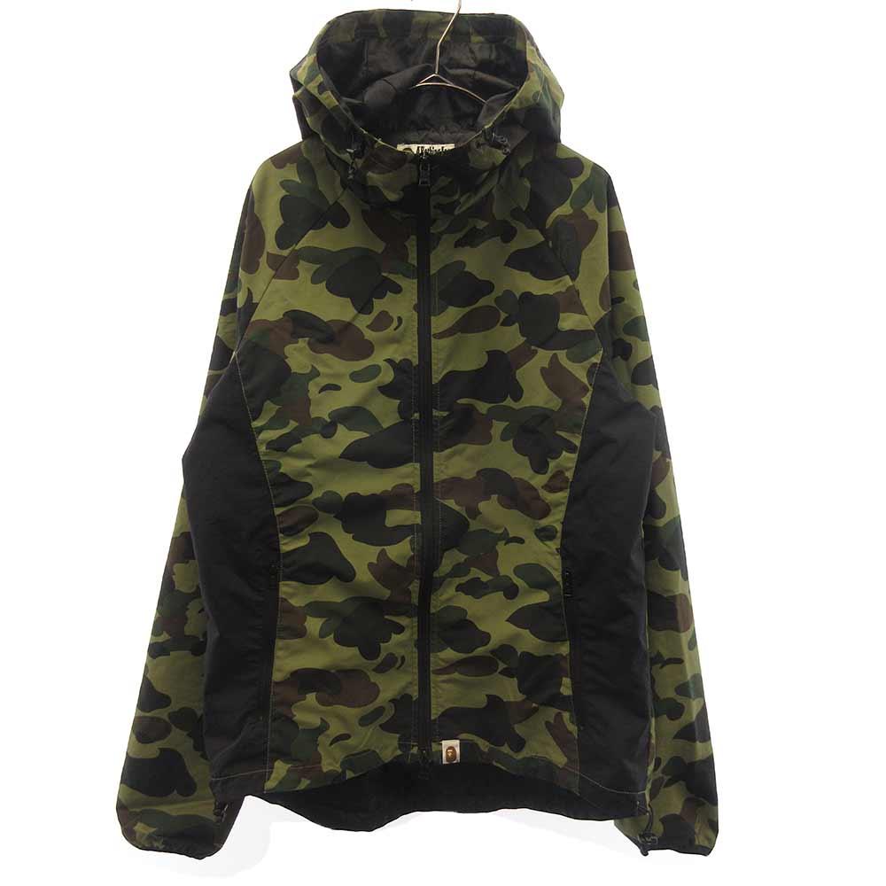 bape 1st camo light weight jacket エイプ ファーストカモ ナイロン ジップアップ ジャケット