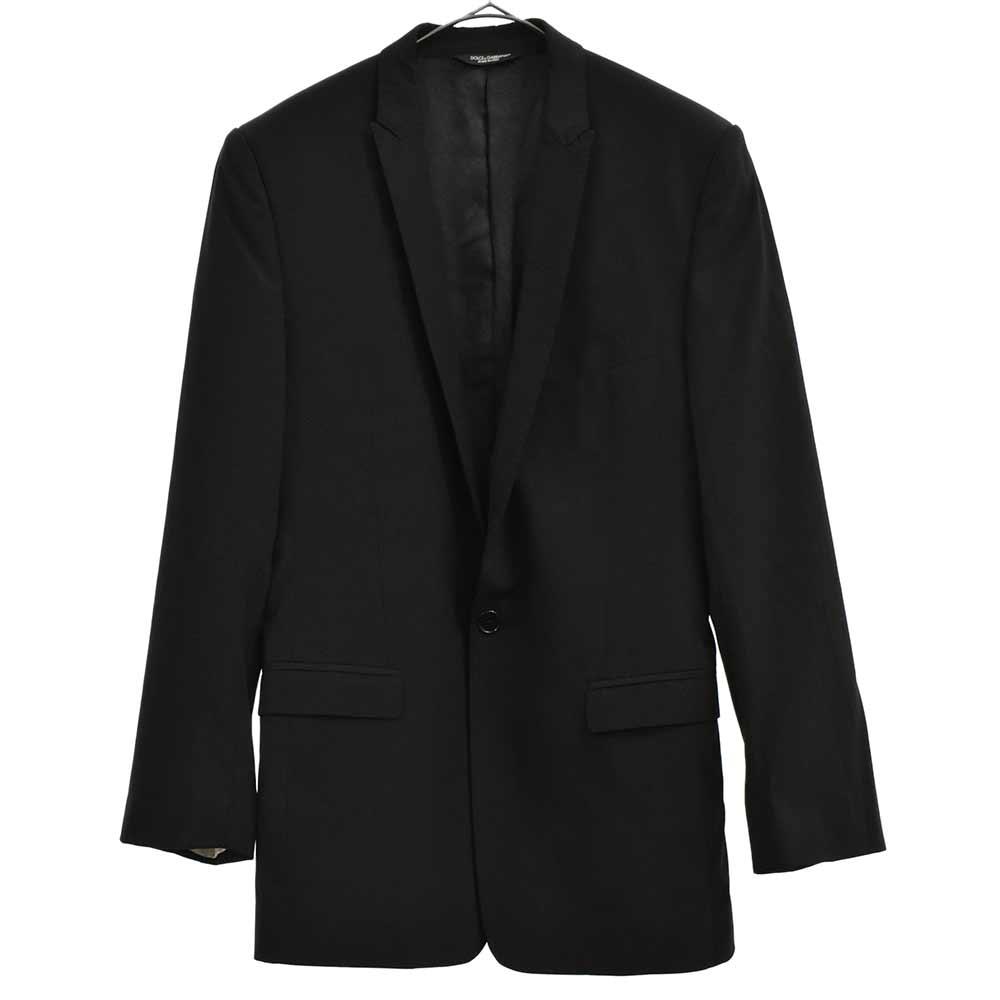 ウールセットアップスーツ ナローラペルテーラードジャケット スラックスパンツ