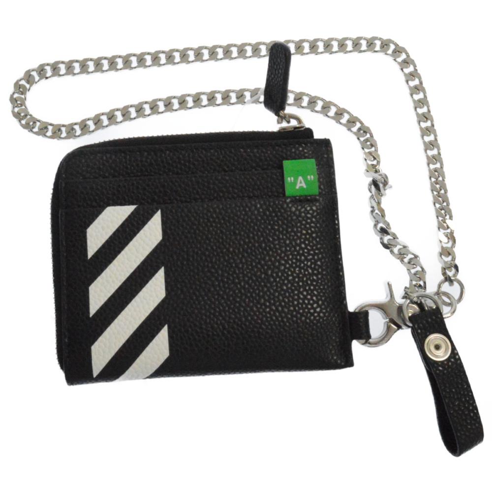 Diag Chain Wallet チェーンベルト ダイアゴナルL字ファスナーレザーショートウォレット 財布 コインケース