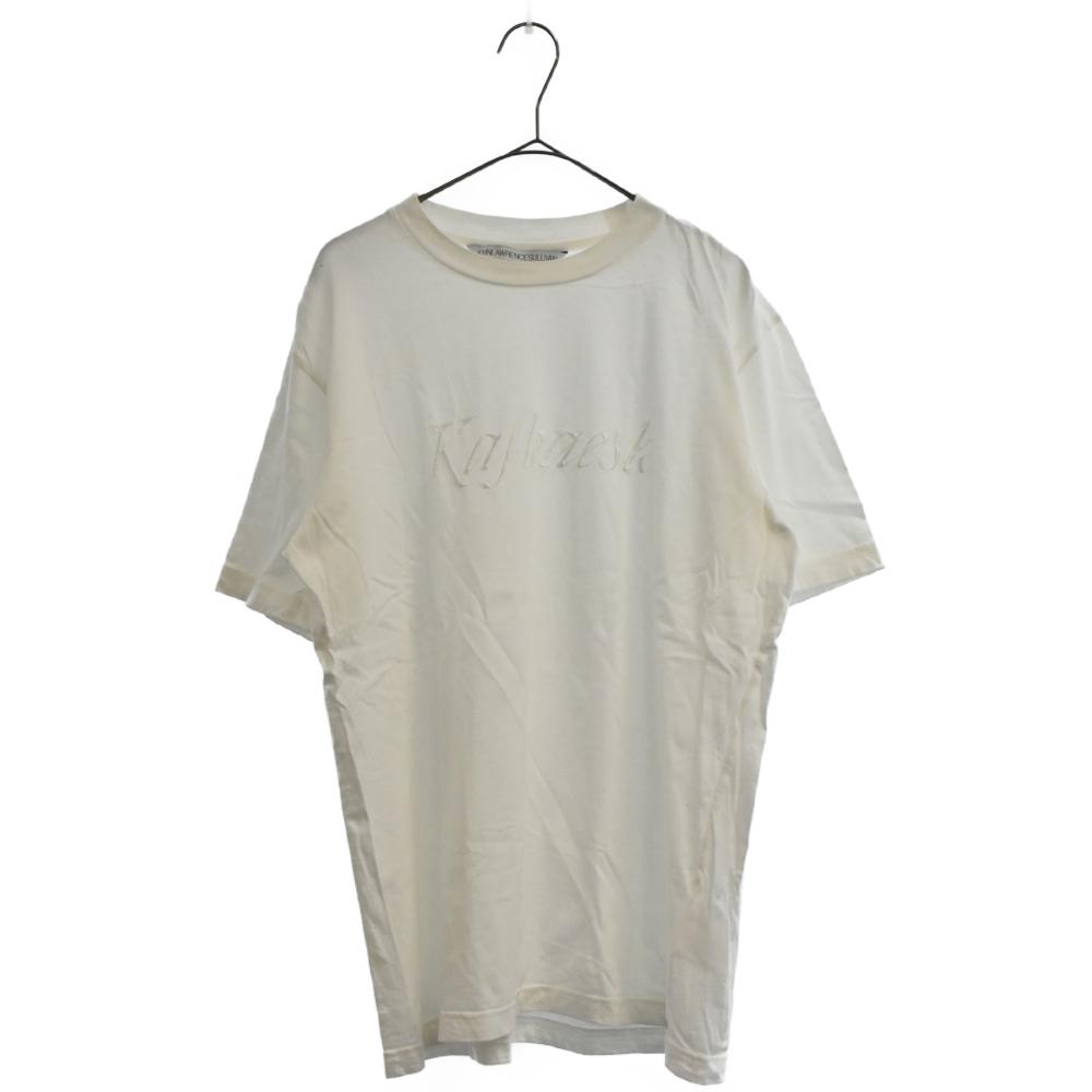 ロゴ刺繍クルーネック半袖Tシャツ 5A016-0318-44