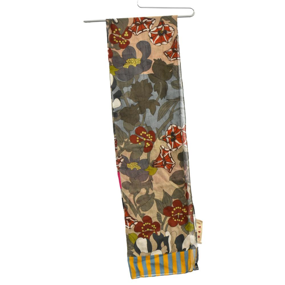 フラワー総柄コットンロングストール スカーフ