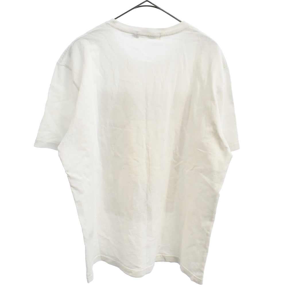 落ち葉拾いミレープリントロゴTシャツ