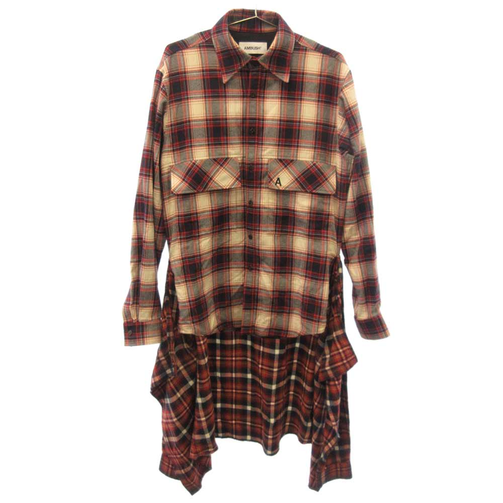 WAIST TIE CHECK SHIRT ウエストタイチェックシャツ