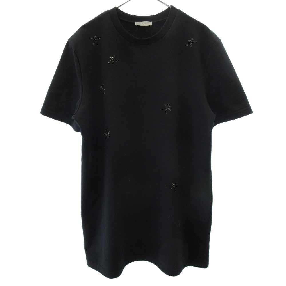 BEEスパンコール刺繍半袖Tシャツ