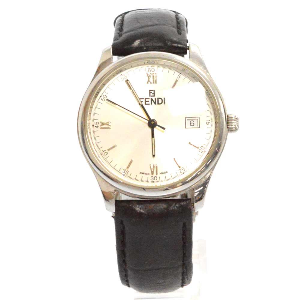 ホワイトダイアルデイト 腕時計