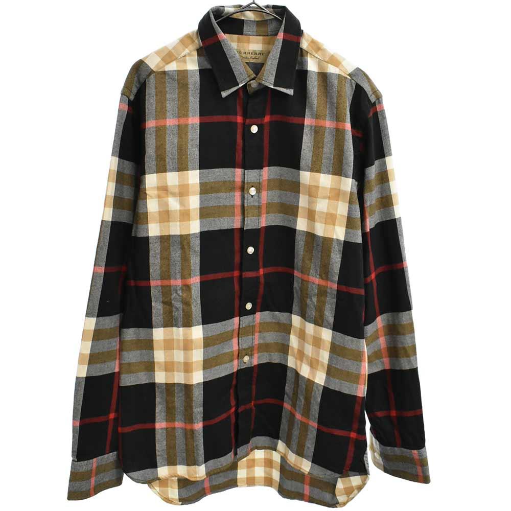 チェック柄ロングスリーブシャツ