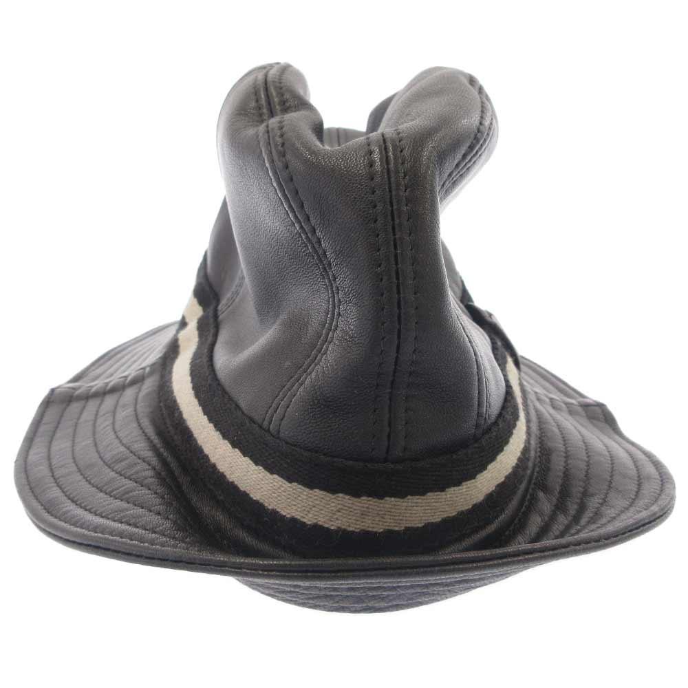 オールレザーハット 帽子