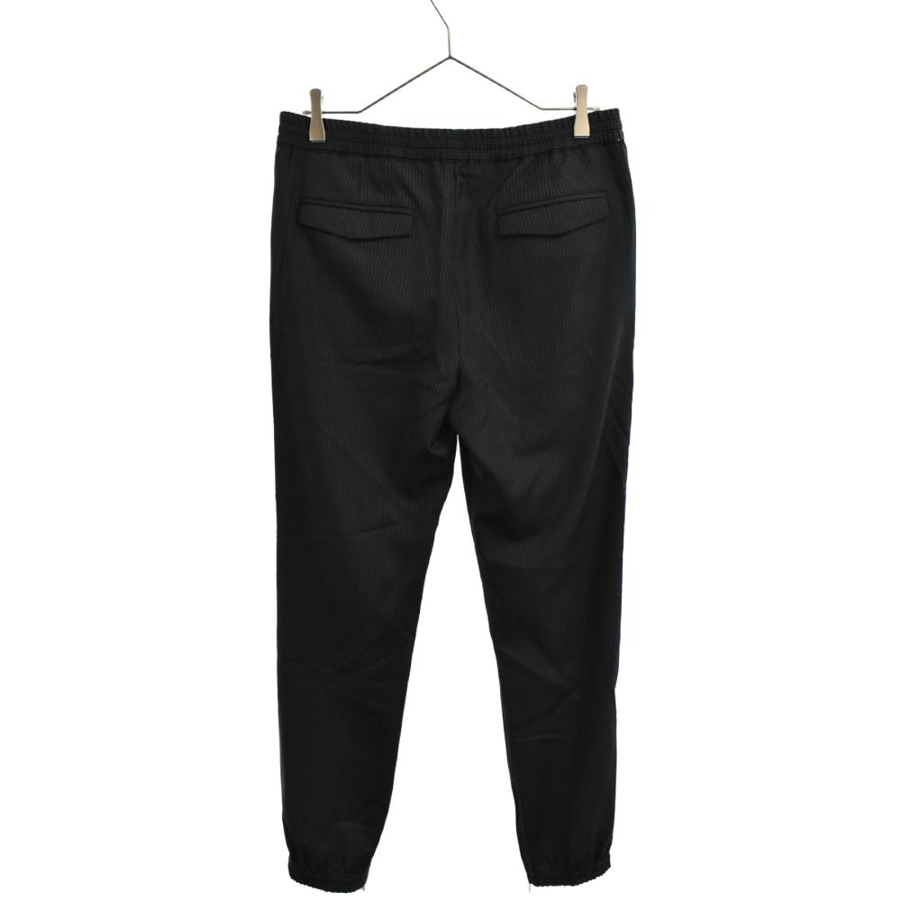 裾ジップジョガーストライプスラックスパンツ