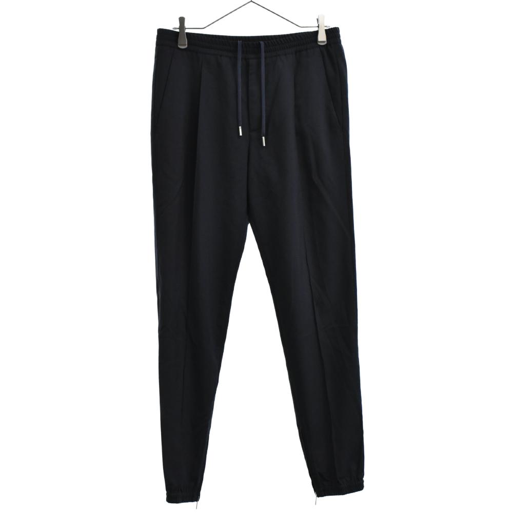 裾ジップジョガースラックスパンツ
