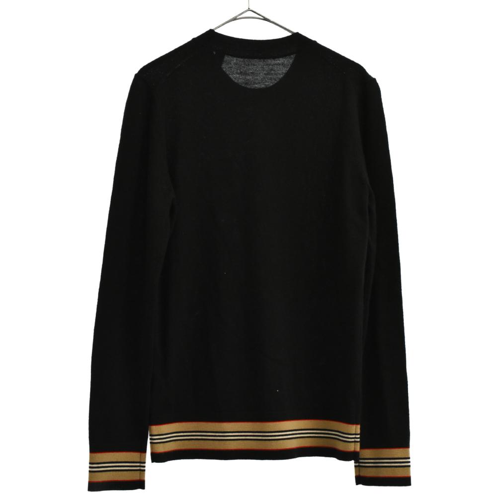 リブラインデザインニットセーター