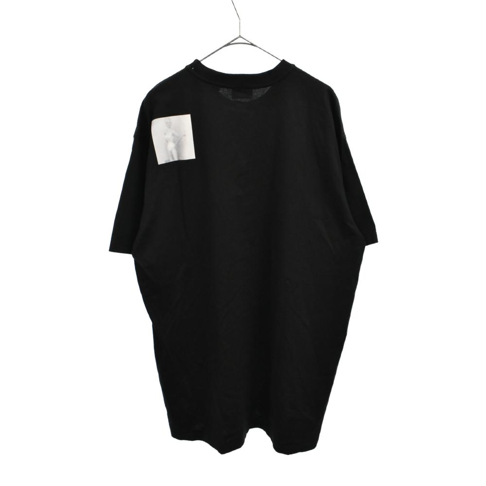 MontagePrint Cotton Oversized T-Shirt バンビフォトプリントクルーネックオーバーサイズ半袖Tシャツ