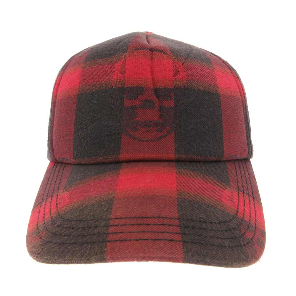 チェック柄5パネルキャップ 帽子