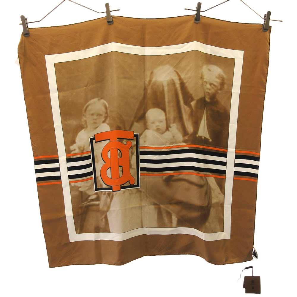 TBロゴプリントシルクスカーフ