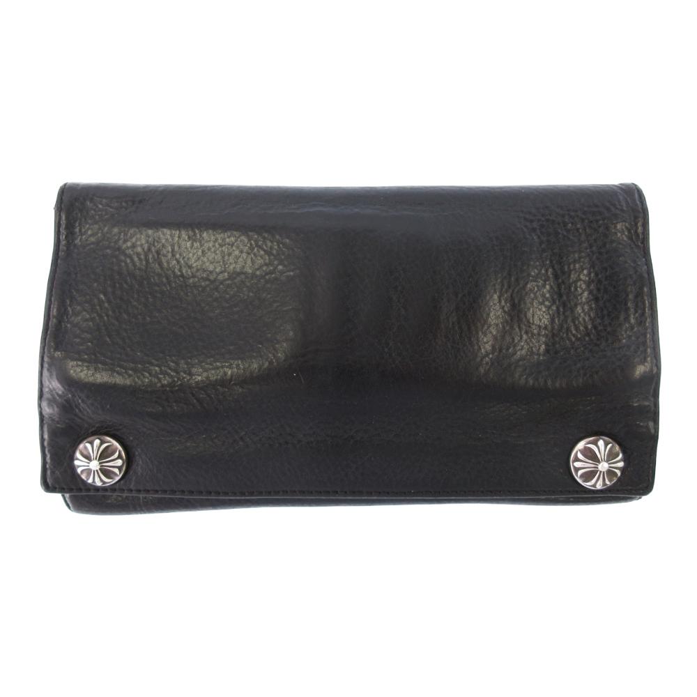 LONG WALLET クロスボタンレザーロングウォレット 財布