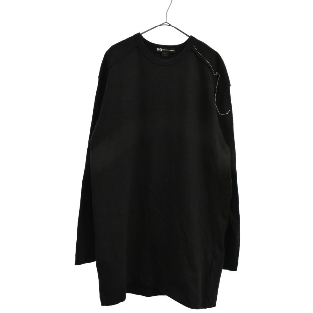 SASHIKO LS TEE 刺し子デザインロゴプリントカットソー 長袖Tシャツ