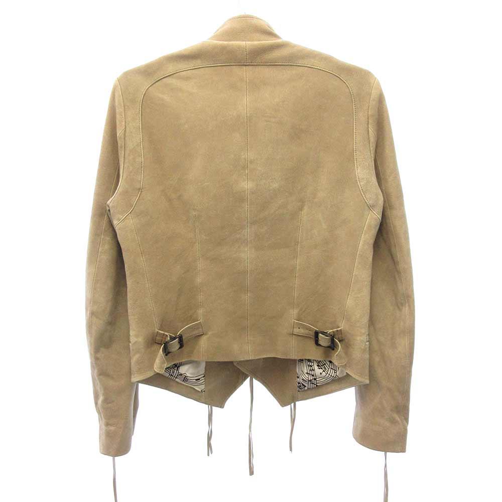 シープスキンレザーナポレオンジャケット