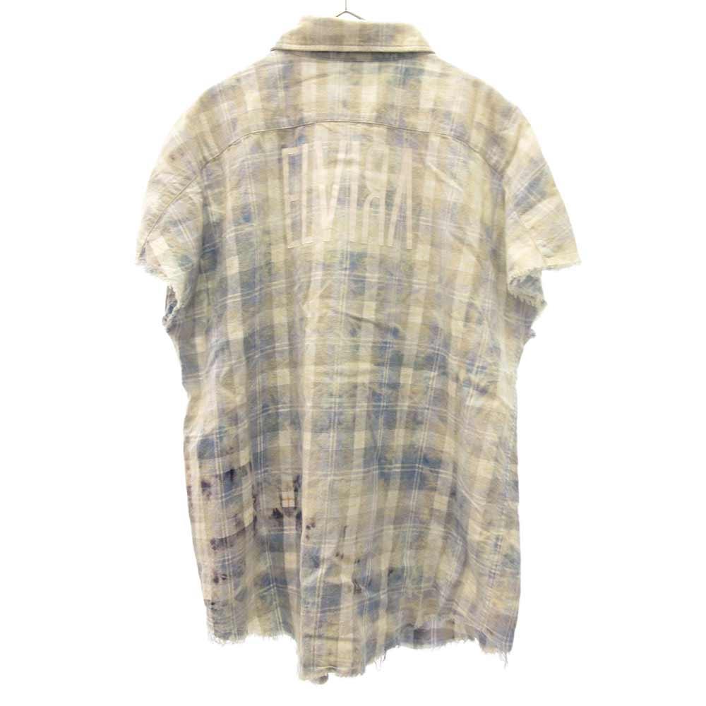 BLEACH CHECK SLEEVELESS SHIRT ブリーチ チェックノースリーブシャツ
