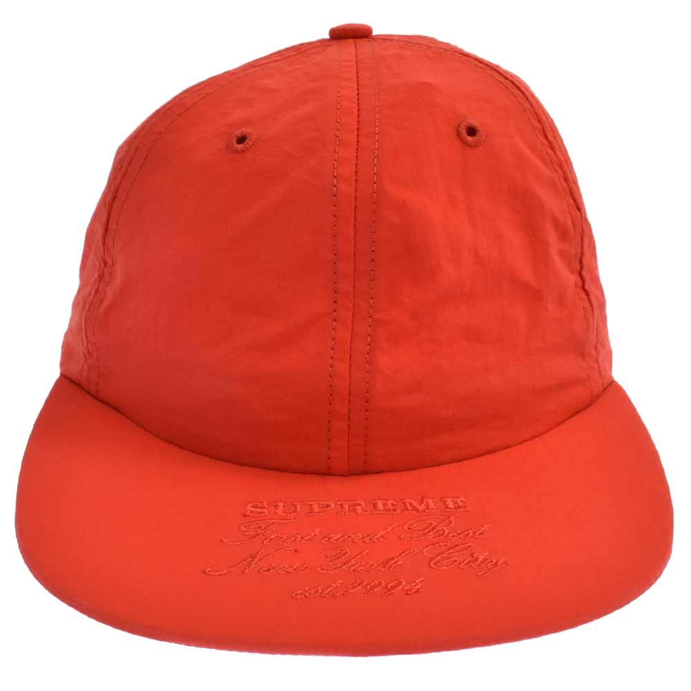First And Best Nylon 6-Panel ファースト アンド ベスト ロゴ刺繍6パネルキャップ 帽子