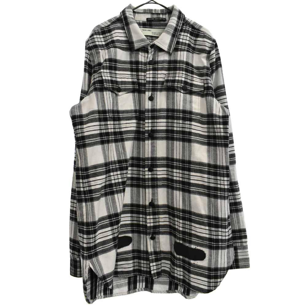DIAG SPRAY CHECK SHIRT 胸ポケット付ダイアゴナルスプレーバイアスチェック長袖シャツ