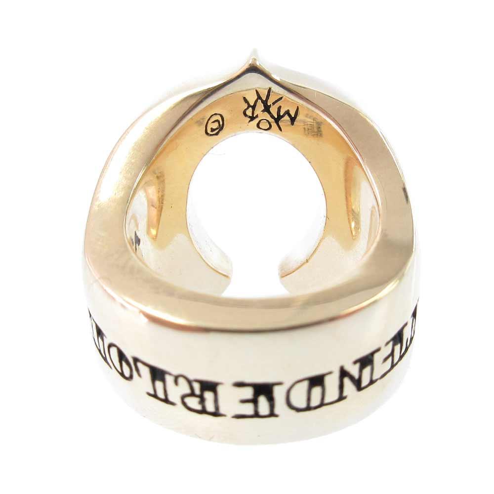 T-H.S RING GOLD/STONE 8Kダイヤホースシューリング 13号 新古品