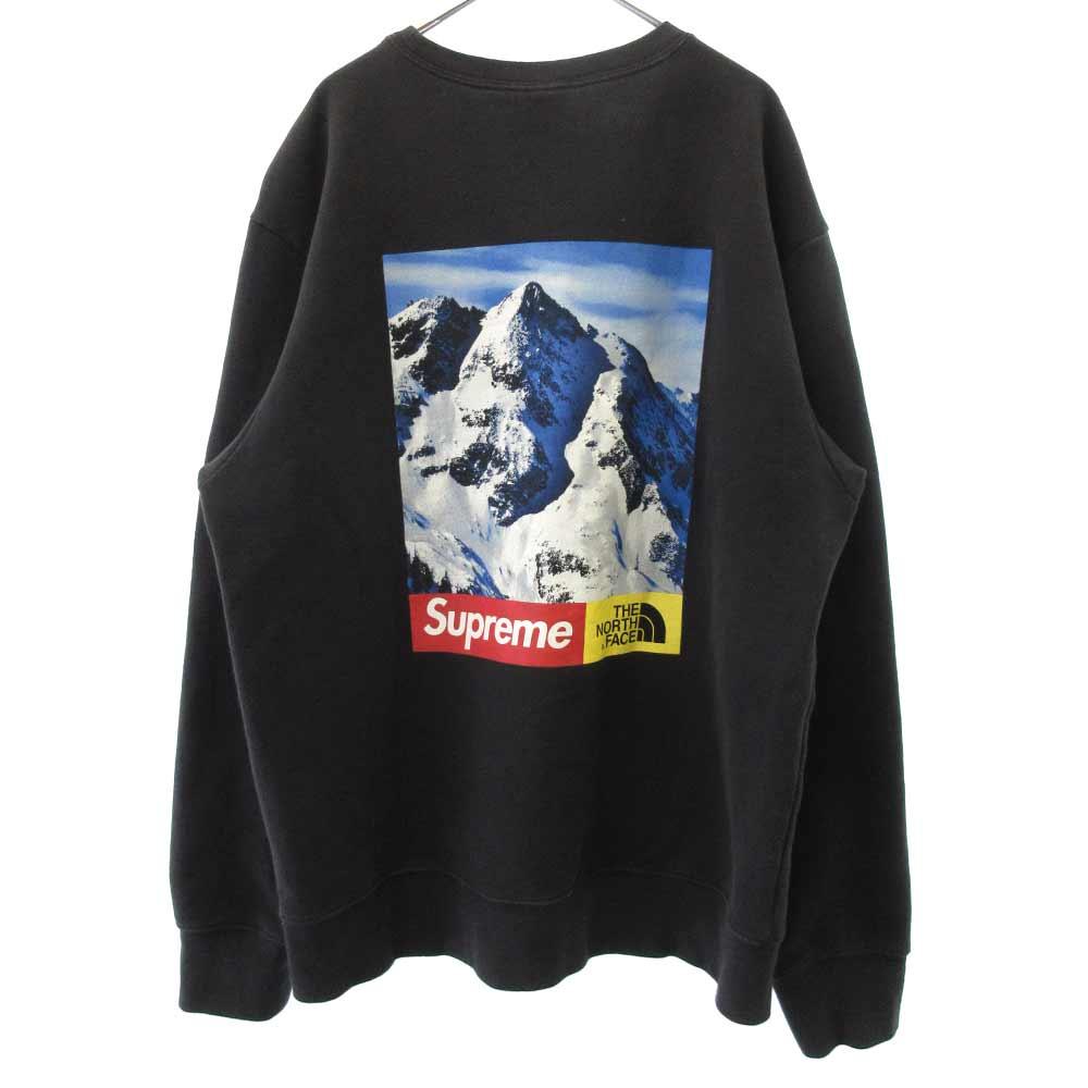 ×THE NORTH FACE Mountain Crewneck Sweatshirt マウンテンクルーネックスウェットシャツ 雪山 バックロゴプリント トレーナー