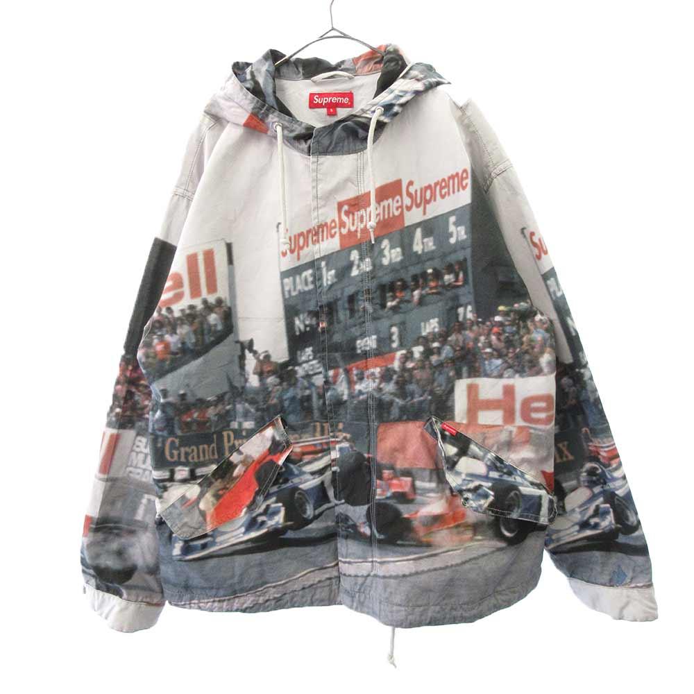 Grand Prix Parka グランプリ レーシング総柄マウンテンパーカー