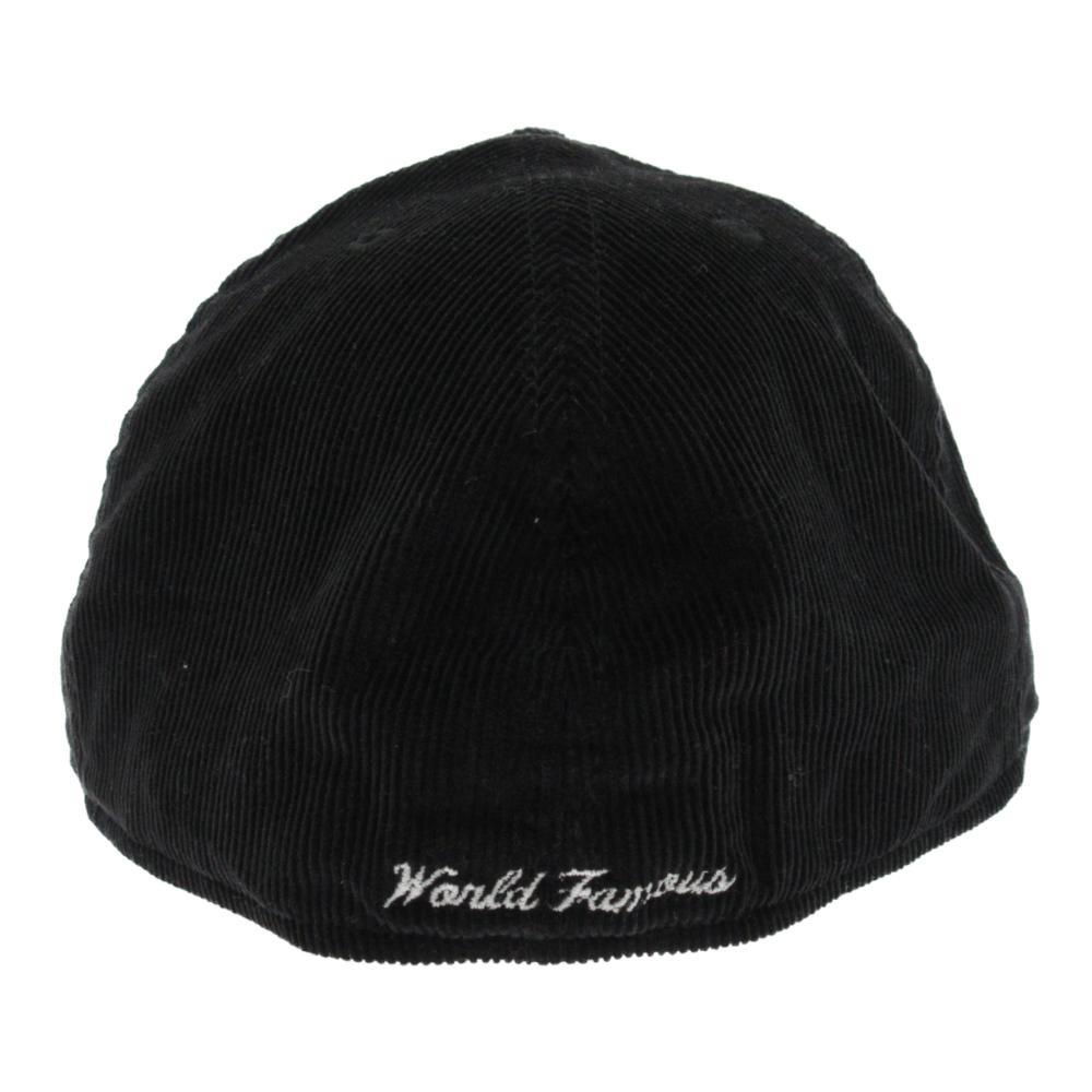 コーデュロイボックスロゴキャップ 帽子