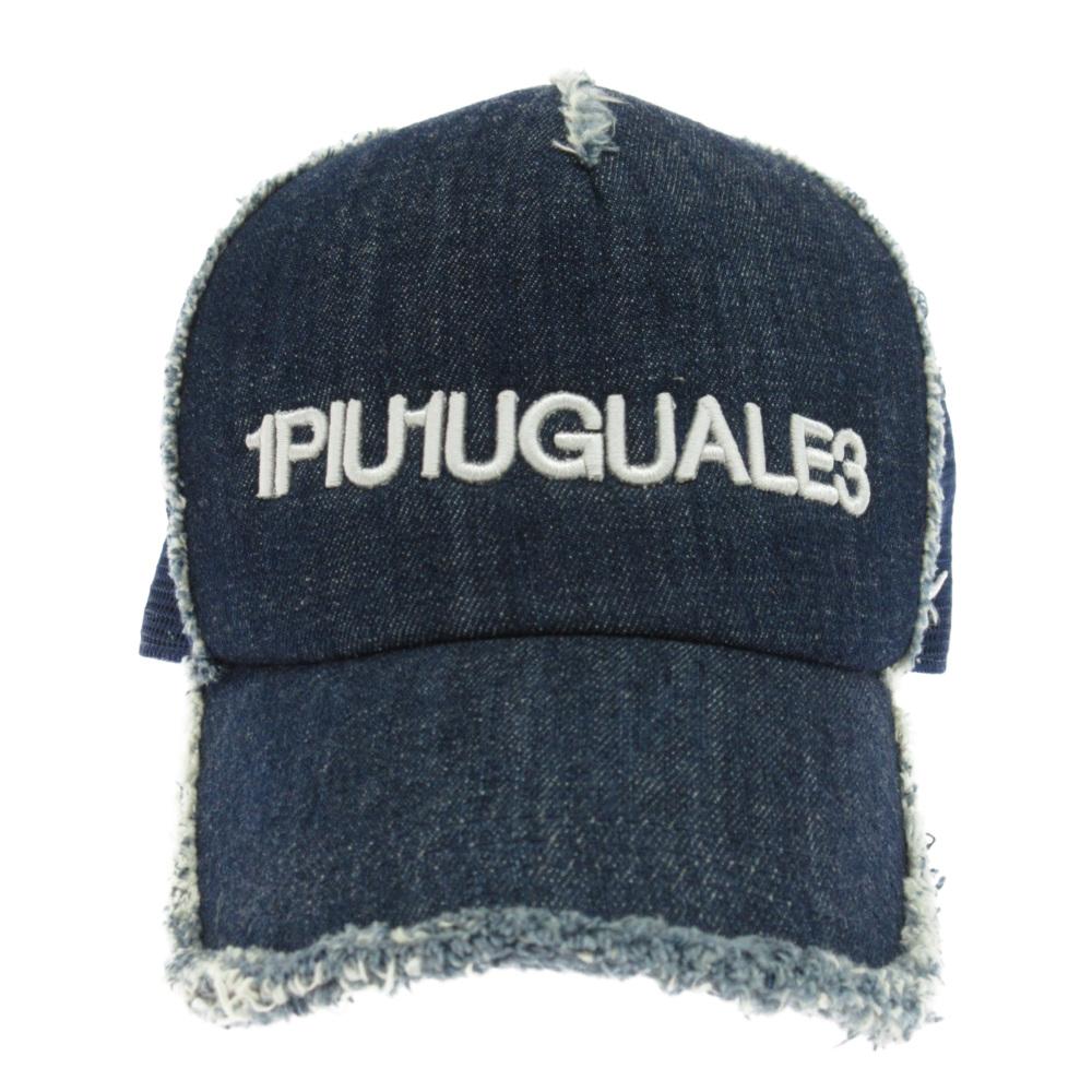 ロゴ刺繍デニムキャップ 帽子