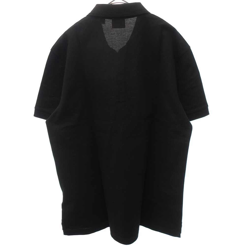 ブラックロゴボタン半袖ポロシャツ