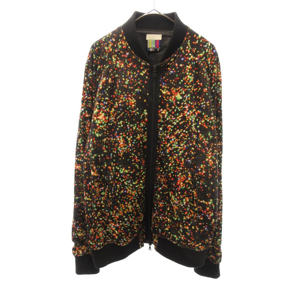 クリスマス柄ベロアボンバーMA-1ジップジャケット