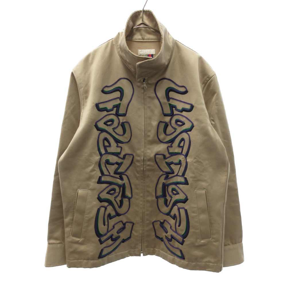刺繍ステンドカラージップジャケット